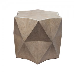 Star side table in shagreen and bone FRONT 6